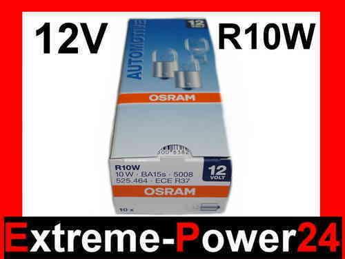 10x OSRAM R10W Kugellampe 12V 10W Ba15s Glühlampe Lampe Glühbirne Birne Leuchte