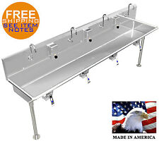 Multi User 4 Person Hand Wash Sink 84 With Knee Valves Hands Free Industrial