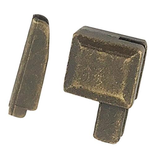 20 Set Metall Zipper Reparatur Unter Reißverschluss Stopper für Jacke Jeans