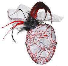 Rojo Tela De Malla Red Mascarilla Masquerade Ball Partido Festival Fancy Dress