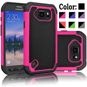 For-Samsung-Galaxy-S6-Active-Phone-Case-Cover-Tempered-Glass-Screen-Protector
