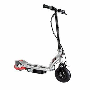 Razor E125 Motorized 24 Volt Rechargeable Battery Kids Electric Scooter, Black