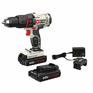 Porter-cable-PCC621LB-20V-MAX-CORDLESS-COMPACT-HAMMER-DRILL-KIT-w-2-batteries