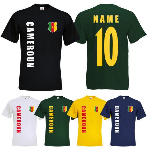 WM 2018 Kamerun CAMEROON T-Shirt Trikot Name Nummer