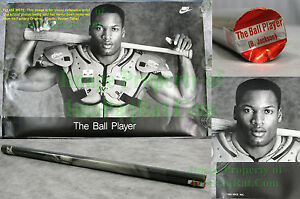 NITF-Factory-SEALED-Nike-Poster-Bo-Jackson-THE-BALL-PLAYER-1st-Print-w-LABEL