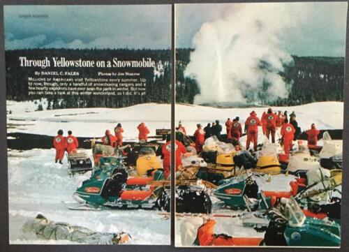 Yellowstone Park Trail Ride on a Johnson Skee Horse Snowmobile 1967 pictorial