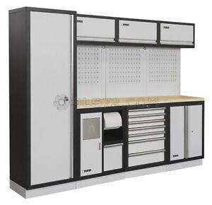 details sur mobiliers d atelier ensemble etabli ratelier armoire garage fervi a007g