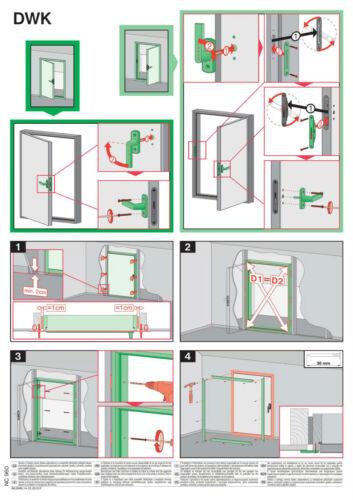 FAKRO DWK en forme de l association portes grenier loft Porte Kit isotherme livraison rapide