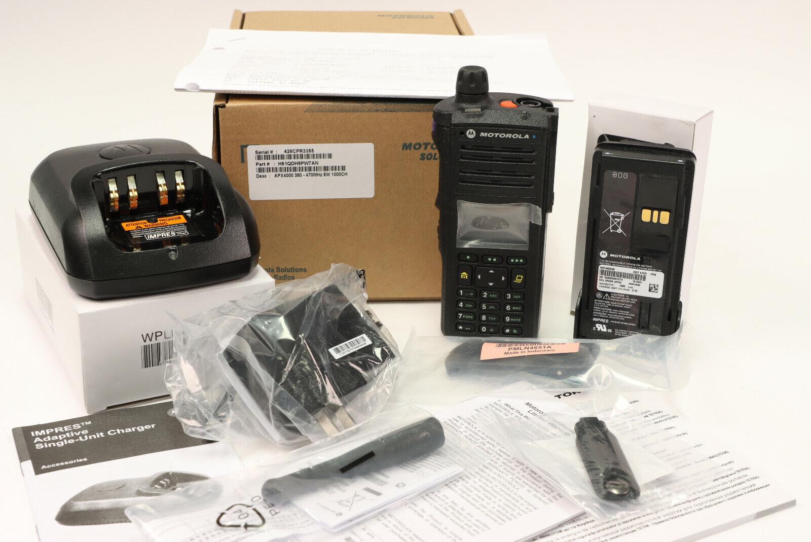 Motorola APX4000 UHF + FPP+ 5 Algo's + Bluetooth 1 knob 380-470MHz w/tags. Buy it now for 950.00
