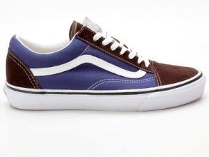 Details zu Vans Old Skool Vintage VN-0 SDI7T0 braun-blau