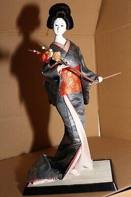 MagiDeal 2Pcs japanische Kimono Geisha Puppe Figur Geschenk Handwerk