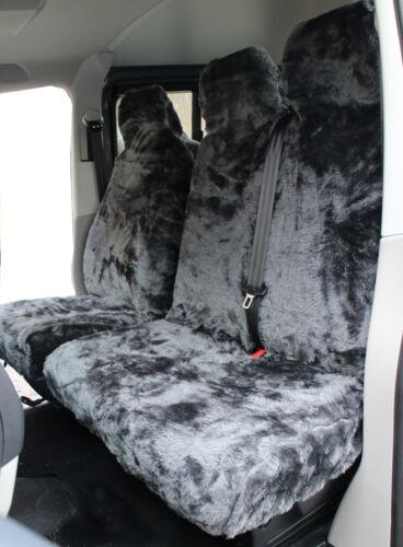 14 on Ford Transit Custom PLAIN GREY Faux FUR VAN Seat COVERS 2+1