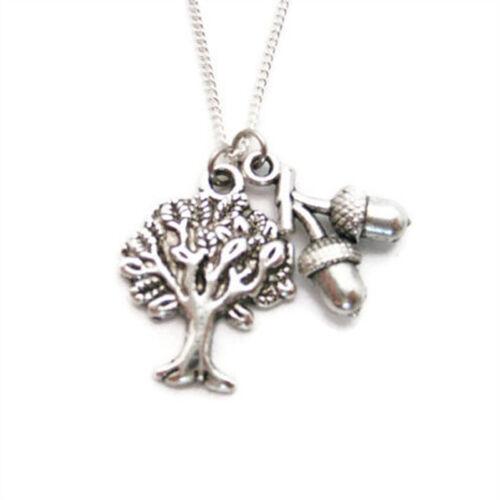 Oak Tree Collier Oak Tree Bijoux Gland Collier Womans cadeaux sous 20 Nature
