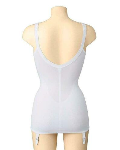CHARNOS Non Wired Open Corselette Floral White New Sizes 34-44 B-D 4672
