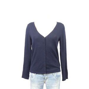 Détails sur WITTY KNITTERS Tricot Fin Cardigan Business Cashmere Bleu Taille M 38 afficher le titre d'origine