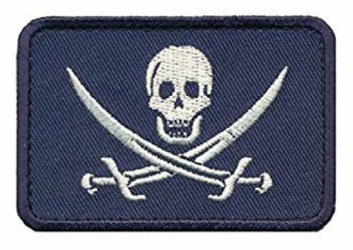 CAL1-NVY Jolly Roger Calico Jack Morale Hook Morale Patch