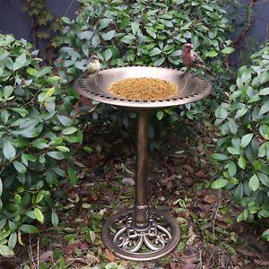 Image Is Loading Antique Copper Effect Bird Bath Garden Decor Vintage