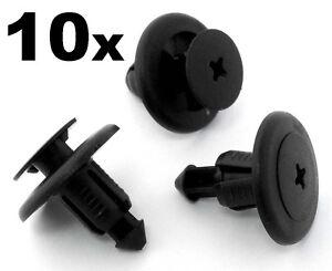 10x-8mm-Plastic-Remache-Panel-Clips-Para-Subaru-Parachoques-Motor-Bajo-Bandeja-sideskirt