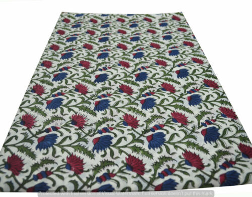 Running 100/% Cotton Voile Fabric Multi Sewing HandBlock Print Craft 10 yard