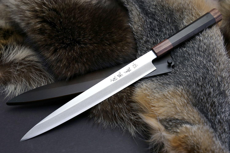 yoshihiro left handed vg 10 stainless yanagi japanese sushi sashimi chef knife ebay. Black Bedroom Furniture Sets. Home Design Ideas