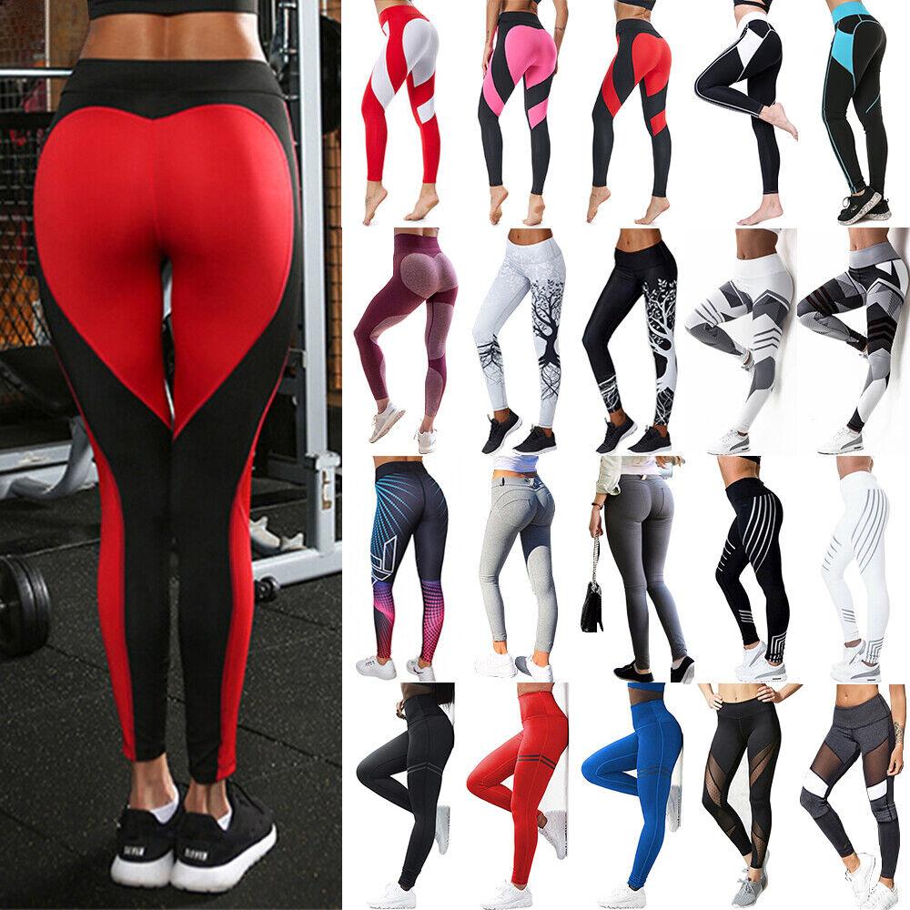 Women Butt Lift Yoga Pants High Waist Leggings Fitness Exercise Sports Trousers