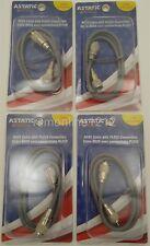 HAM RADIO RG8X MINI-8 ANTENNA COAX JUMPER CORD LOT OF 5 ASTATIC A8X3 3` FT CB