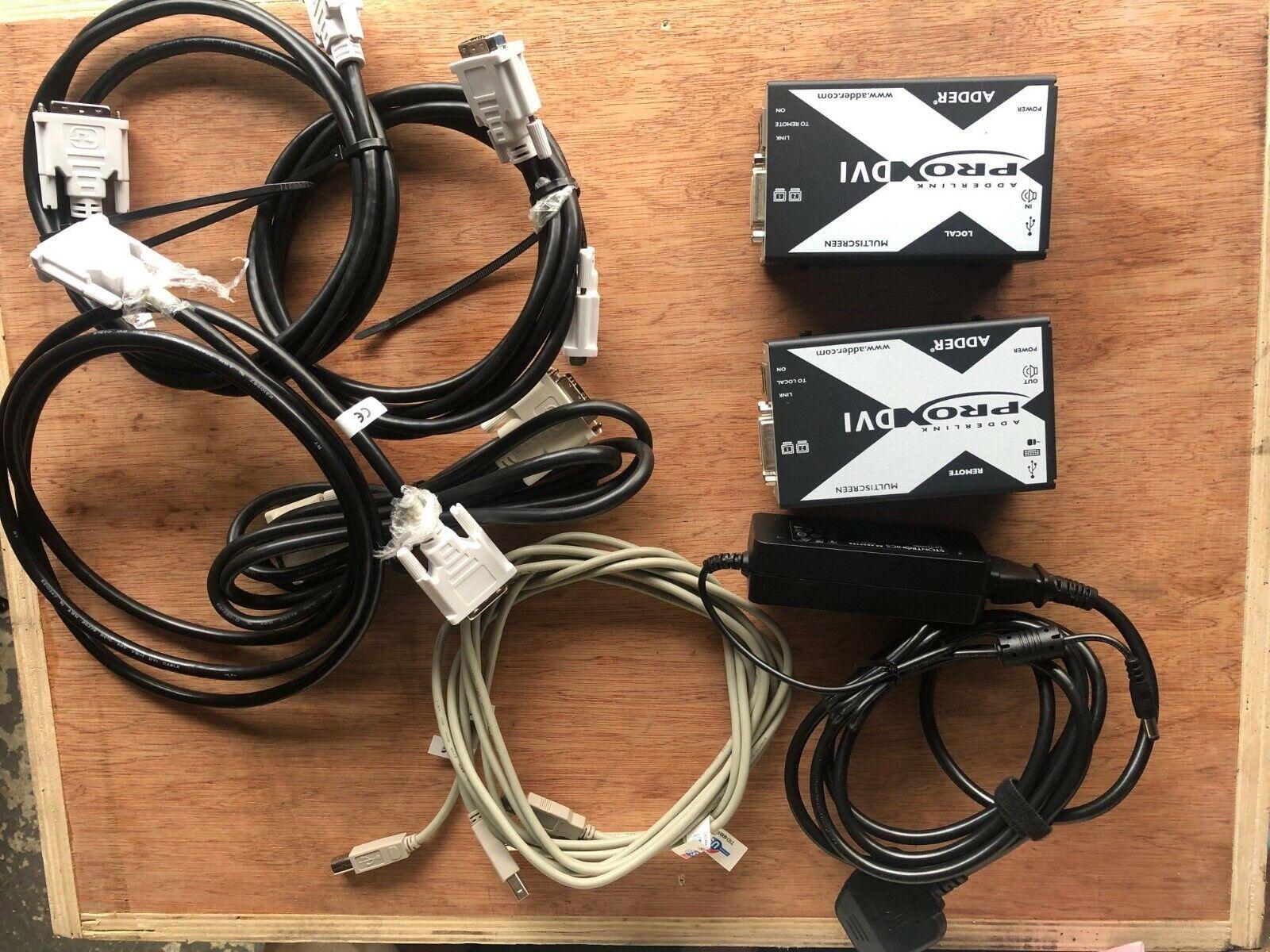 X-DVIPRO-MS2: AdderLink Dual Head DVI, USB and Audio Extender