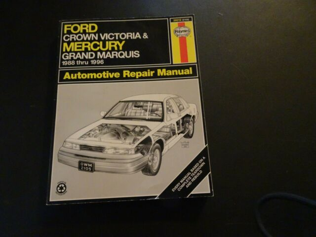 Haynes 36012 Repair Manual Ford Crown Victoria  U0026 Mercury