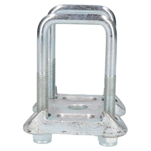 4 U Bolts 2 Base Plate For Ifor Williams Twin Parabolic Leaf Spring 142x55mm