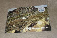 Range Rover Mk1 Sales Brochure 1977 - RR Classic V8 3 Door - Dealer Sticker