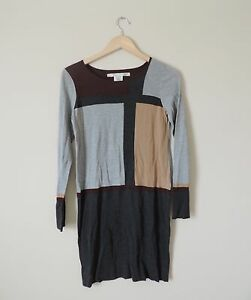 Women-039-s-Max-Studio-Sweater-Dress-Gray-amp-Maroon-NEW-WITH-TAGS-NWT-Size-Small