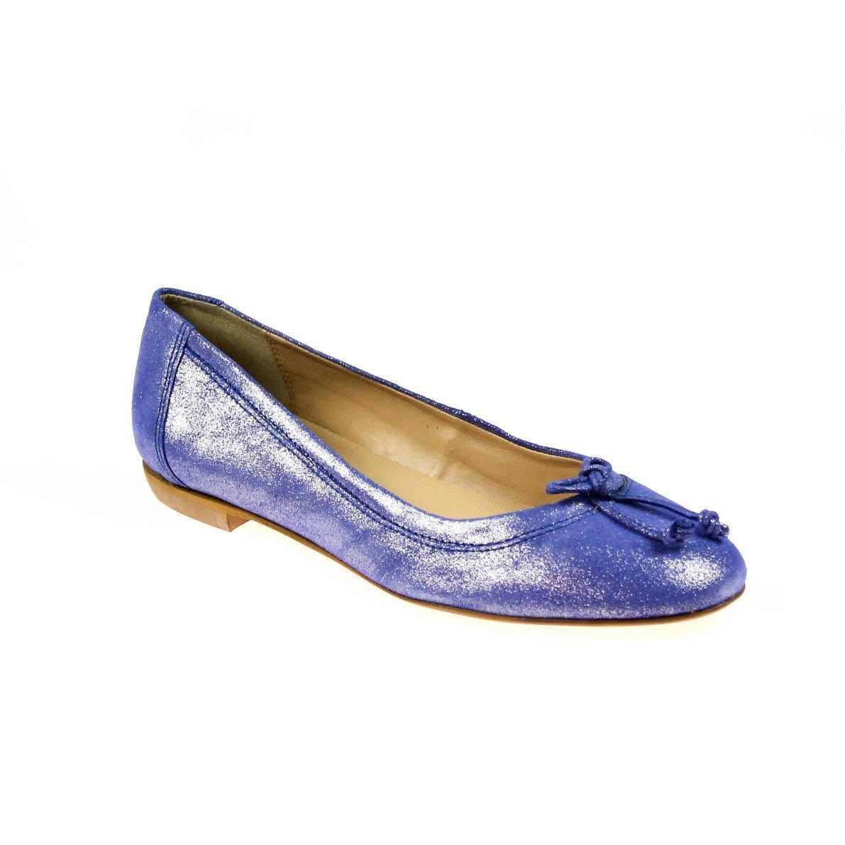 Eye señora bailarinas cuero cuero cuero azul  auténtico