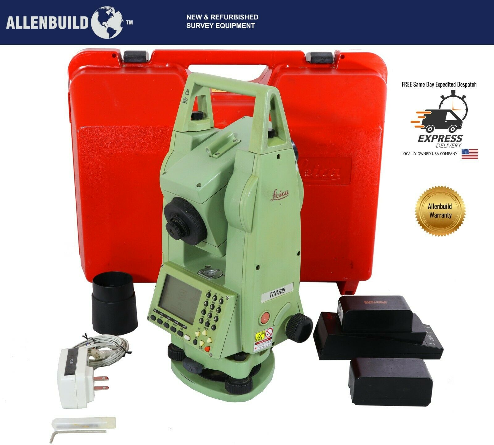 LEICA TCR705 TOTAL STATION for construction/Land SURVEYING