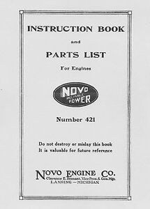 Novo-Instruction-Book-and-Parts-List-Number-421