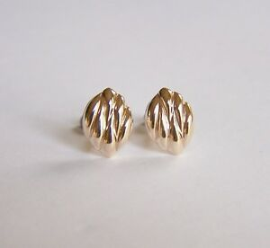 Girls Ladies 9ct Gold ANDRALOK Domed Heart CZ Studs Earrings Mums B/'Day Gift BOX
