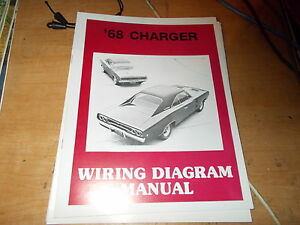 1968 dodge charger wiring diagram manual ebay. Black Bedroom Furniture Sets. Home Design Ideas