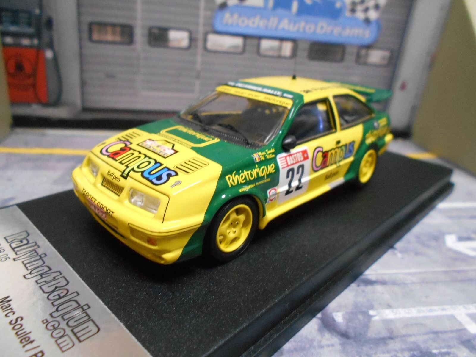 Ford Sierra Cosworth RS Rallye Soulet YPRES 1988  22 Campus Limit Edition 1 43