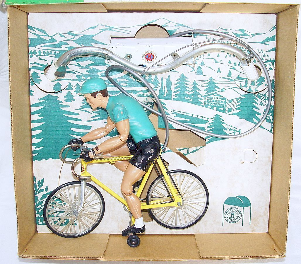 FJ France Jouets TOUR DE FRANCE BICYCLE RIDER Battery Operated Operated Operated 30cm  NMB`65 RARE 78aedf