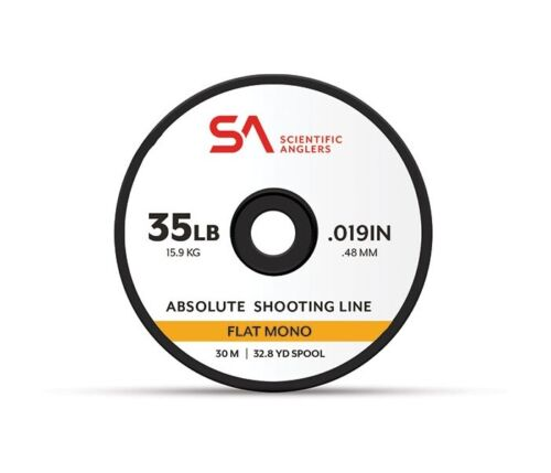 25lb Yellow New Scientific Anglers Absolute Flat Mono Shooting Line