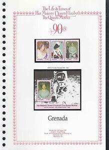 DéSintéRessé Grenade 1990 Les Reines-mères, 90ème Anniversaire Neuf Sans Charnière Set + M / S Sur La Page #v 205-afficher Le Titre D'origine