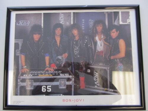 VINTAGE MUSIC POSTER - BON JOVI BAND - 17 X 22 - 1987 FUNKY #210