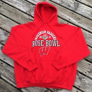 Wisconsin-Badgers-Rose-Bowl-2012-Red-XXL-Sweatshirt-Big-Ten-Football-Hoodie-Nice