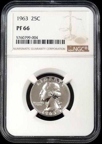 1963 Proof Washington Quarter certified PF 66 by NGC!