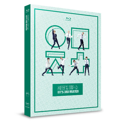 BTS 3rd Muster Army zip Blu-ray 2 Disc Gift Photo Book Standing Paper