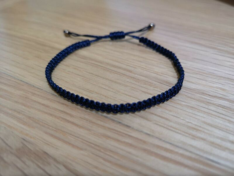 Black Hand Made Cord Knot Bracelet