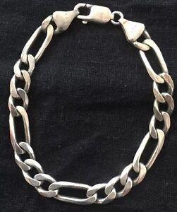 Vintage-Italy-Sterling-Silver-Bracelet-Unique-Links