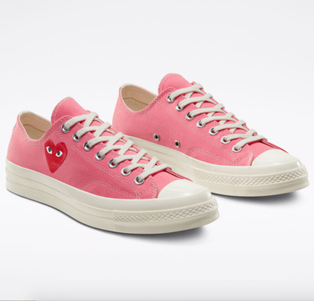 Converse X Comme Des GARCONS Play Chuck Taylor 70 Strawberry Pink Women's  10.5