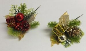 12-Pack-Christmas-Picks-Holiday-Red-Gold-Pine-Cone-Gift-Ball-Greens