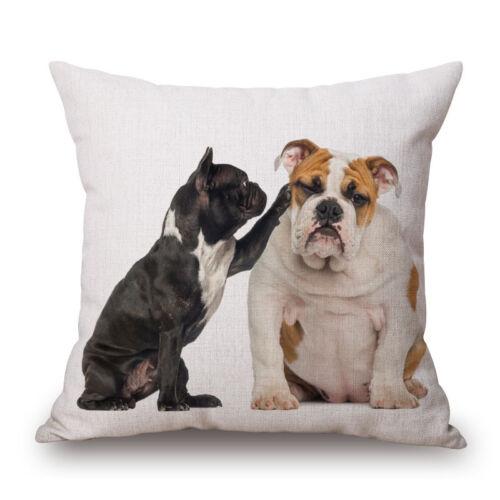 """Lovely French Bulldog 18/""""x45cm Decor Cotton Linen Cushion cover Pillowcase"""