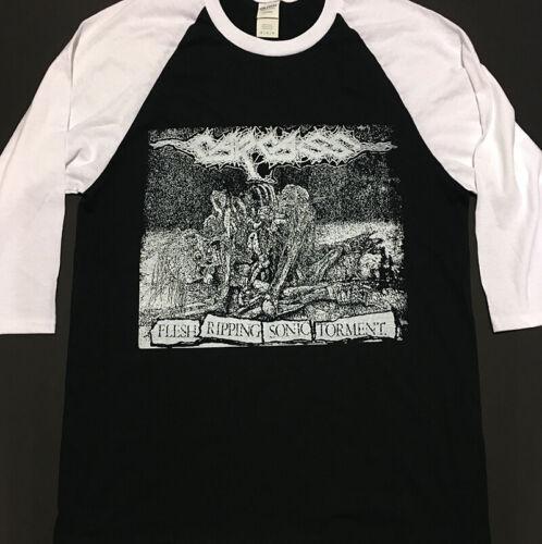 CARCASS 3//4 Sleeve Length Baseball T shirt IMMOLATION BOLT THROWER Grindcore